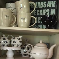 A beautiful display of casual tea service