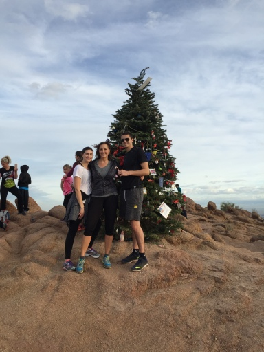 Last year we hiked up a mountain in arizona to see this christmas tree!